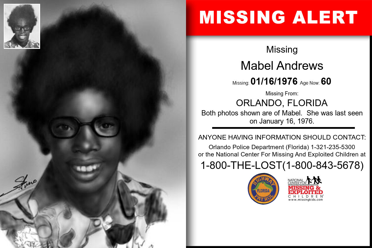 Mabel_Andrews missing in Florida