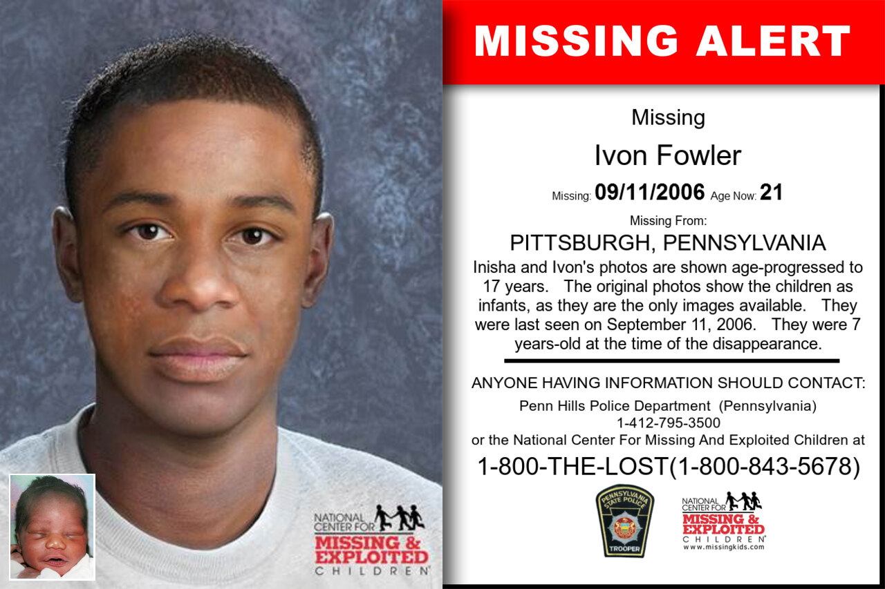 Ivon_Fowler missing in Pennsylvania