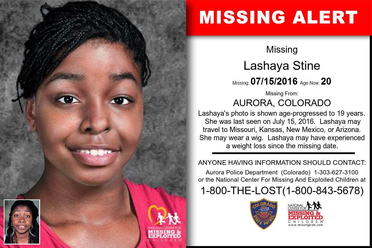 Lashaya_Stine missing in Colorado
