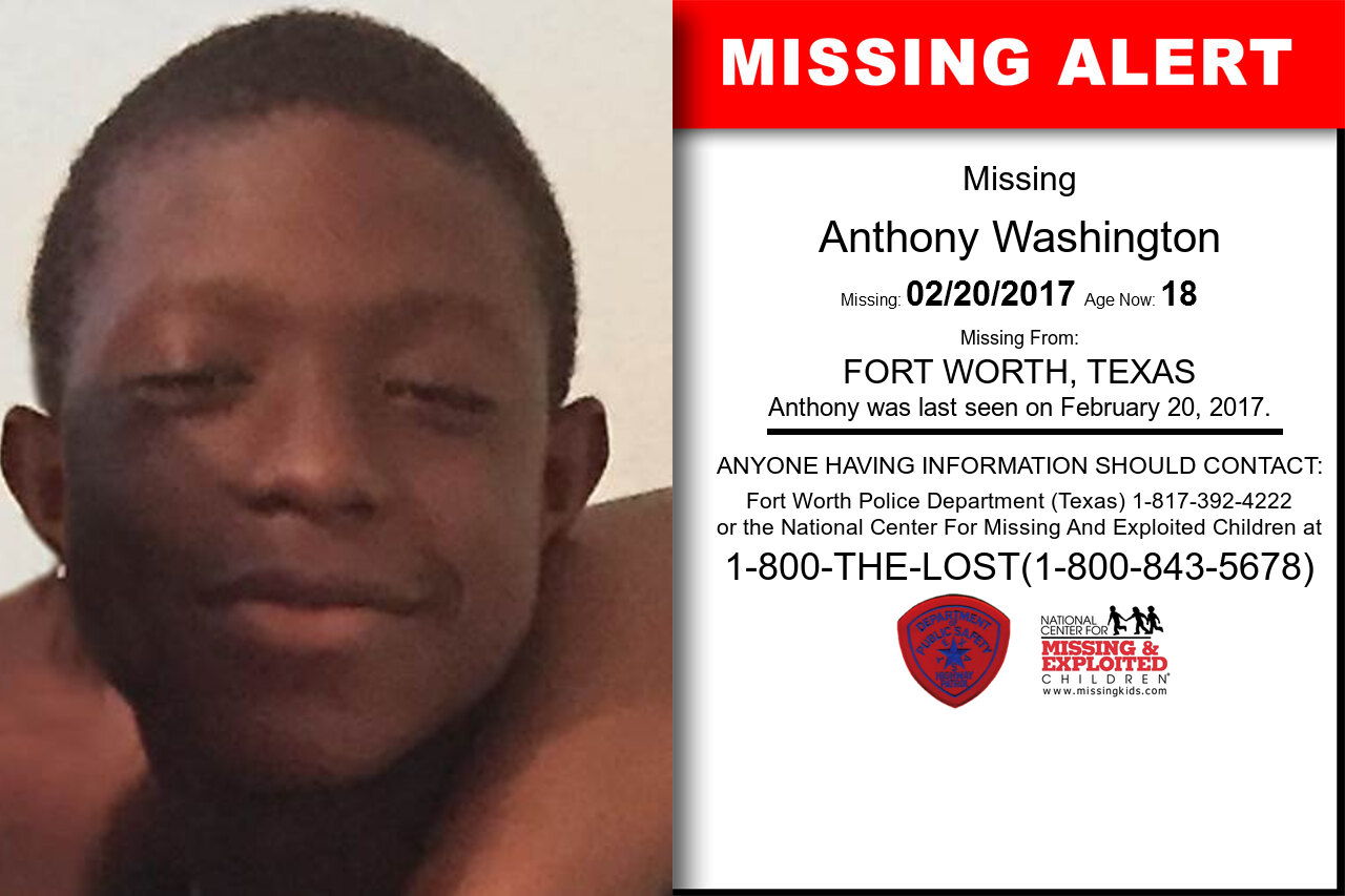 Anthony_Washington missing in Texas