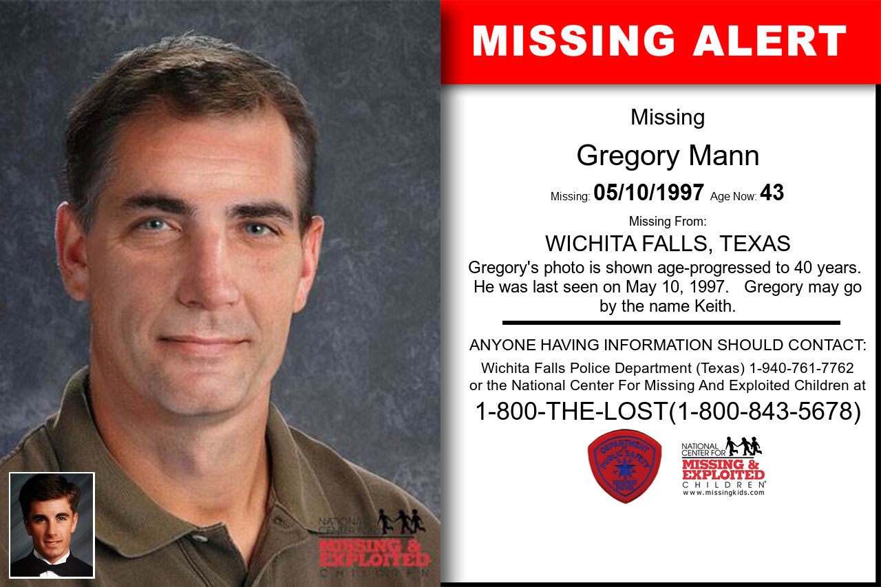 Gregory_Mann missing in Texas