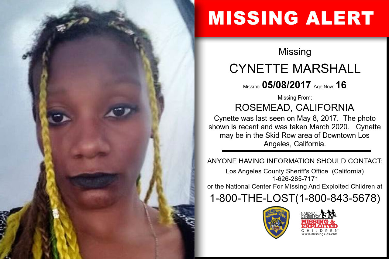 CYNETTE_MARSHALL missing in California