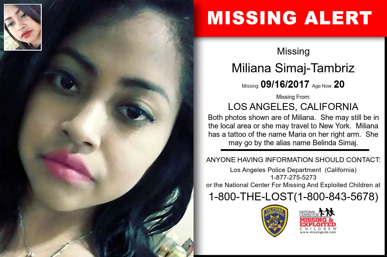 Miliana_Simaj-Tambriz missing in California