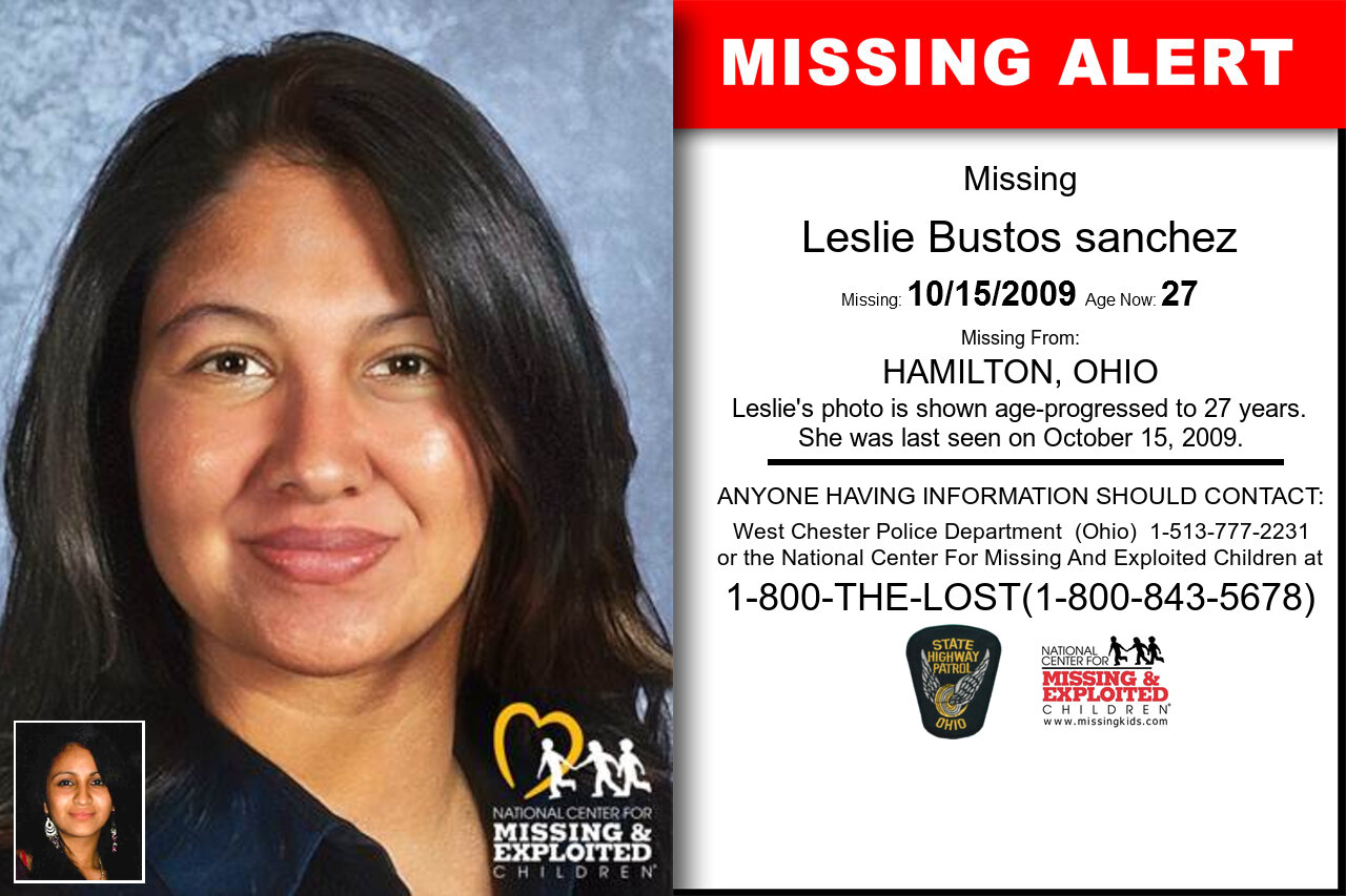 Leslie_Bustos_sanchez missing in Ohio