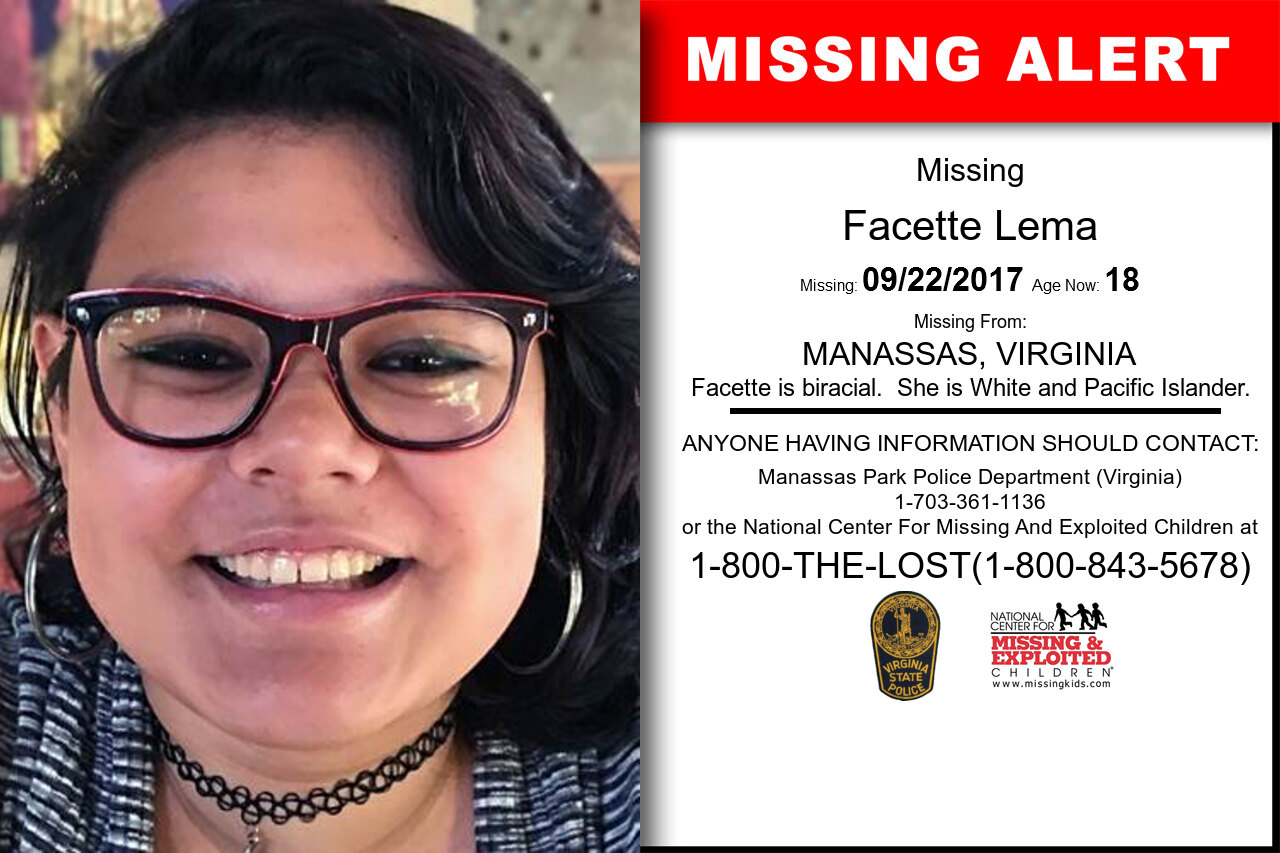 Facette_Lema missing in Virginia