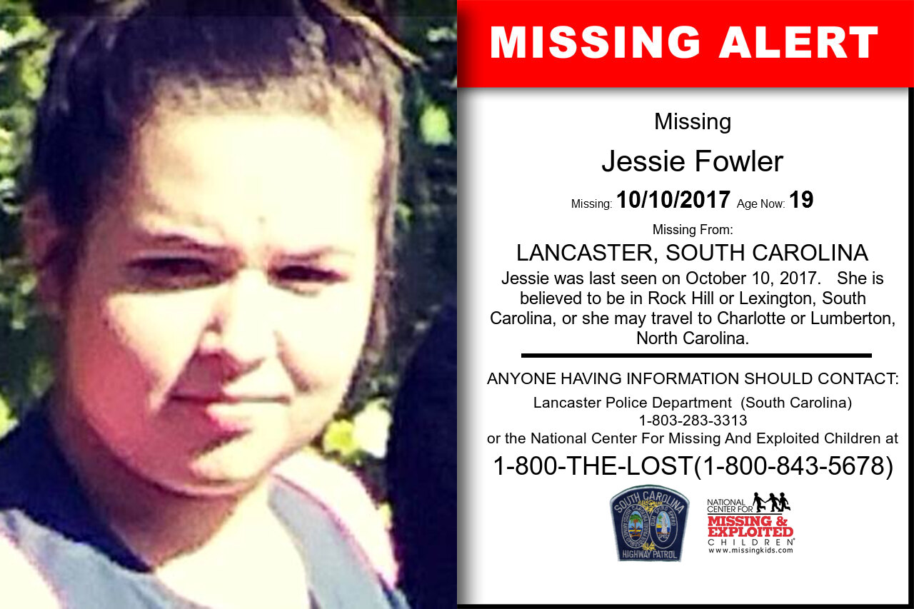 Jessie_Fowler missing in South_Carolina