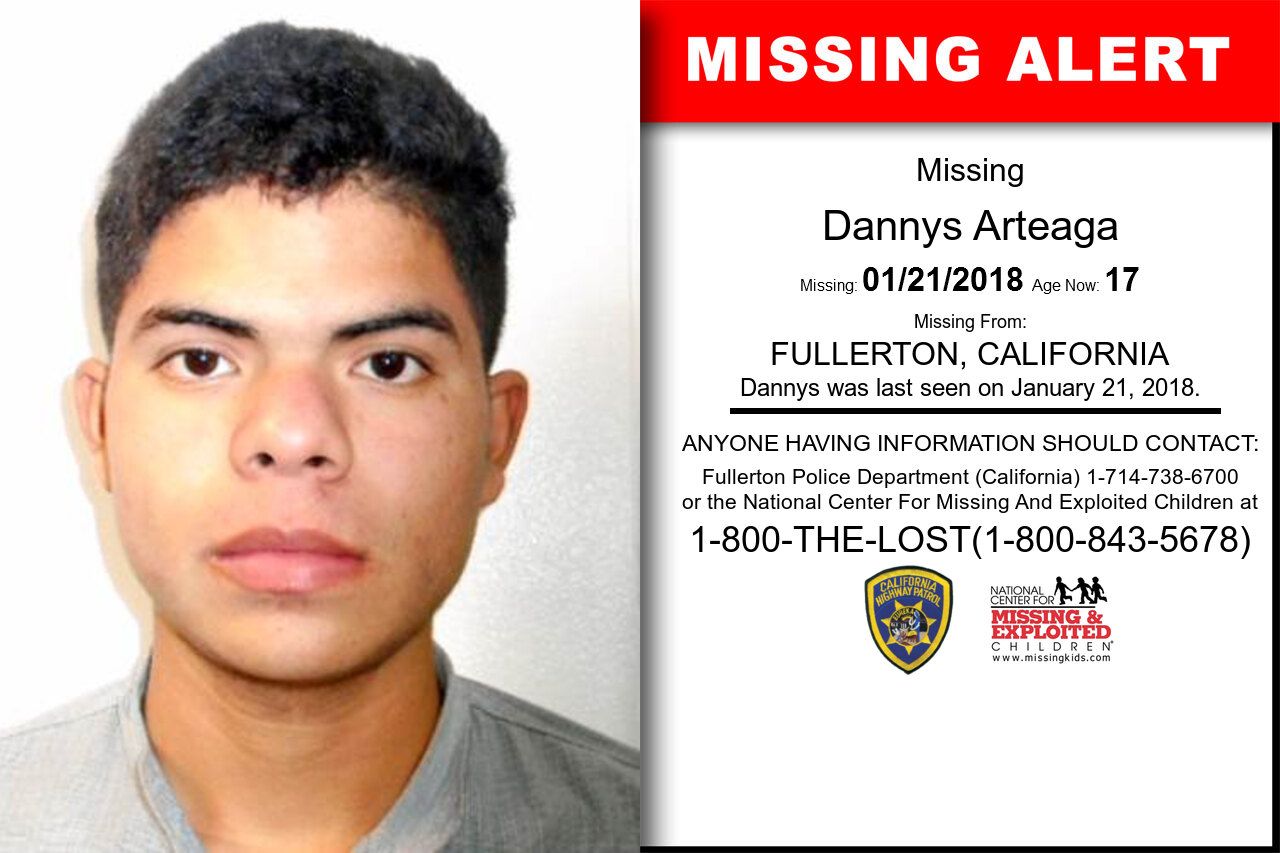 Dannys_Arteaga missing in California