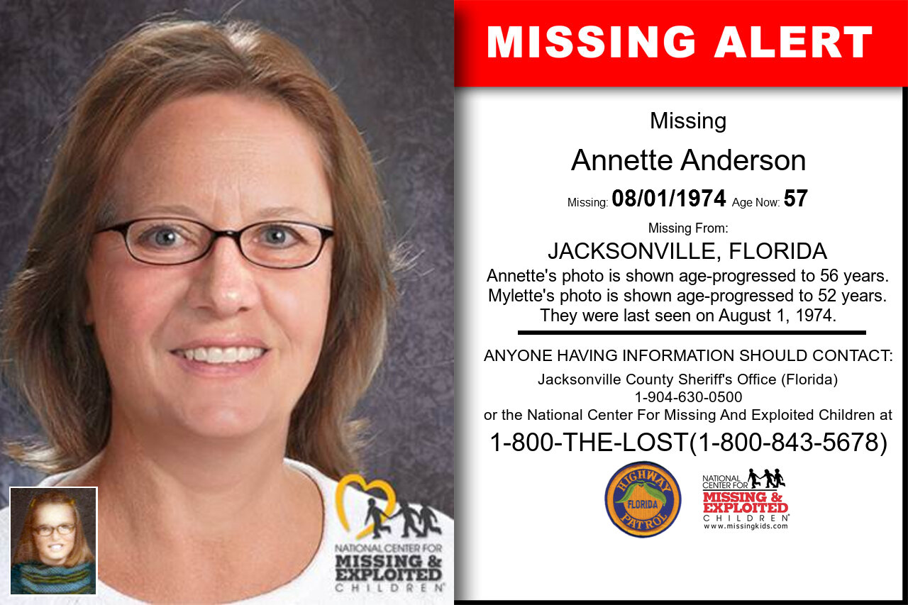 Annette_Anderson missing in Florida
