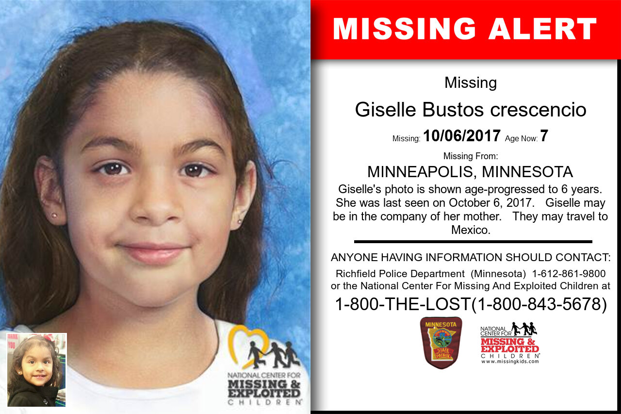 Giselle_Bustos_crescencio missing in Minnesota