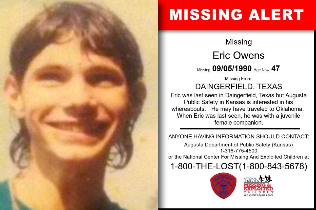 Eric_Owens missing in Texas