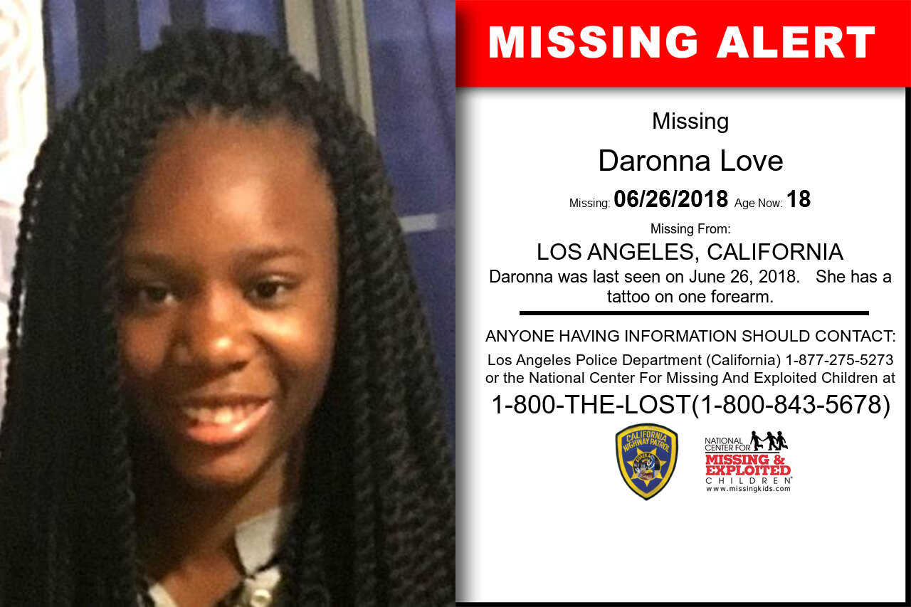 Daronna_Love missing in California