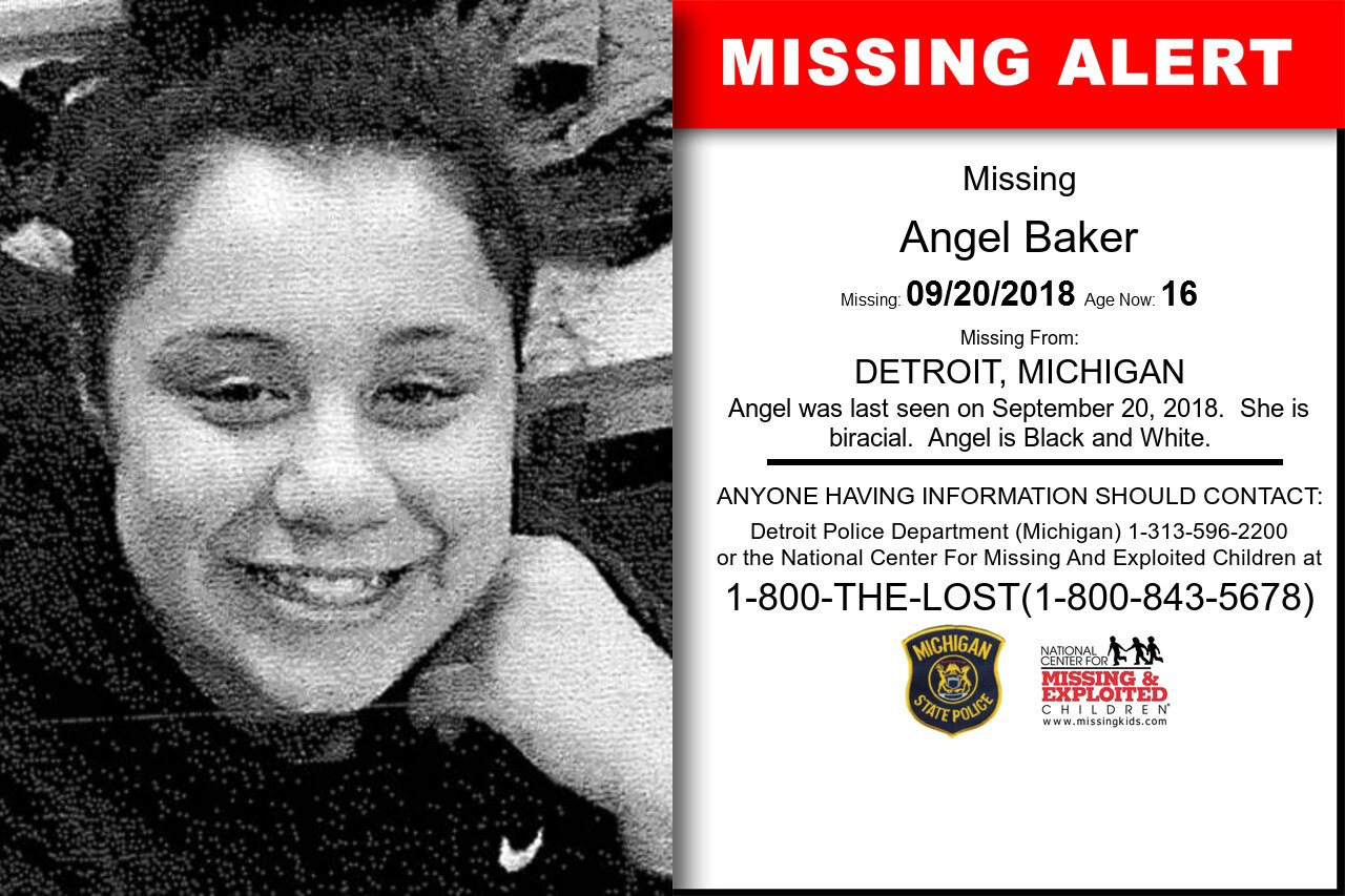 Angel_Baker missing in Michigan