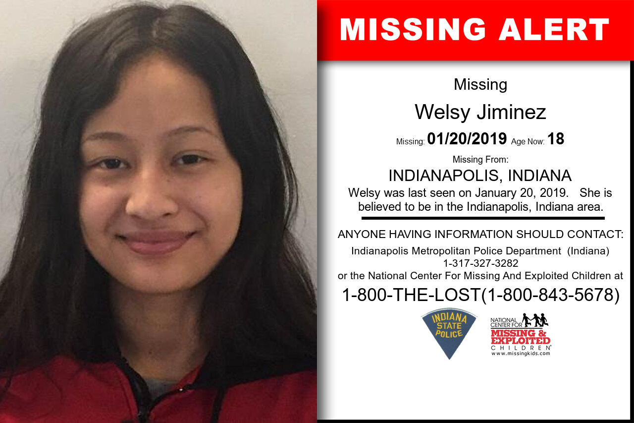 Welsy_Jiminez missing in Indiana