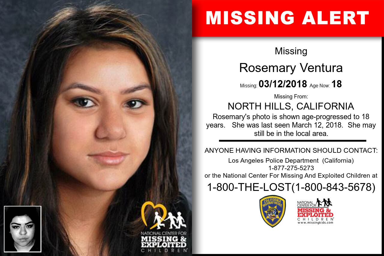 Rosemary_Ventura missing in California