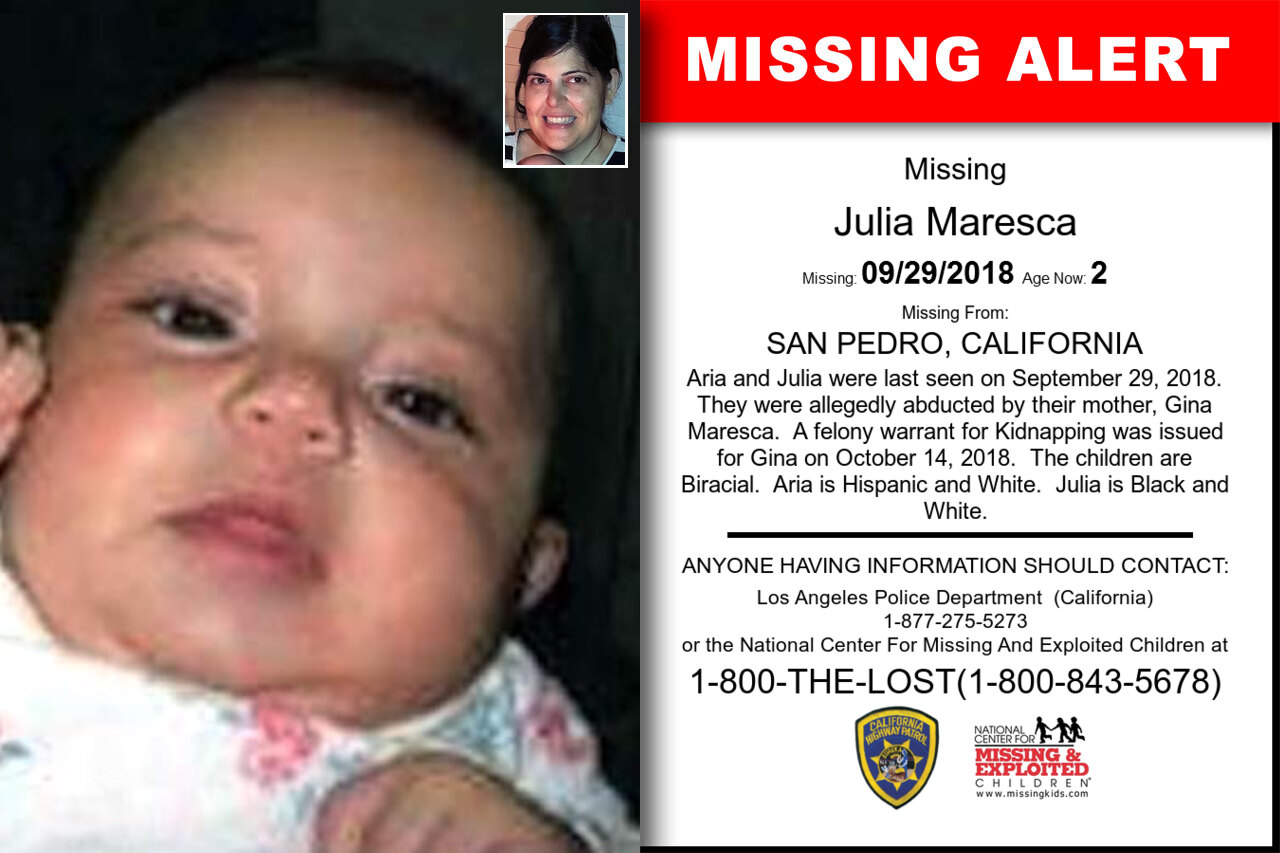 Julia_Maresca missing in California