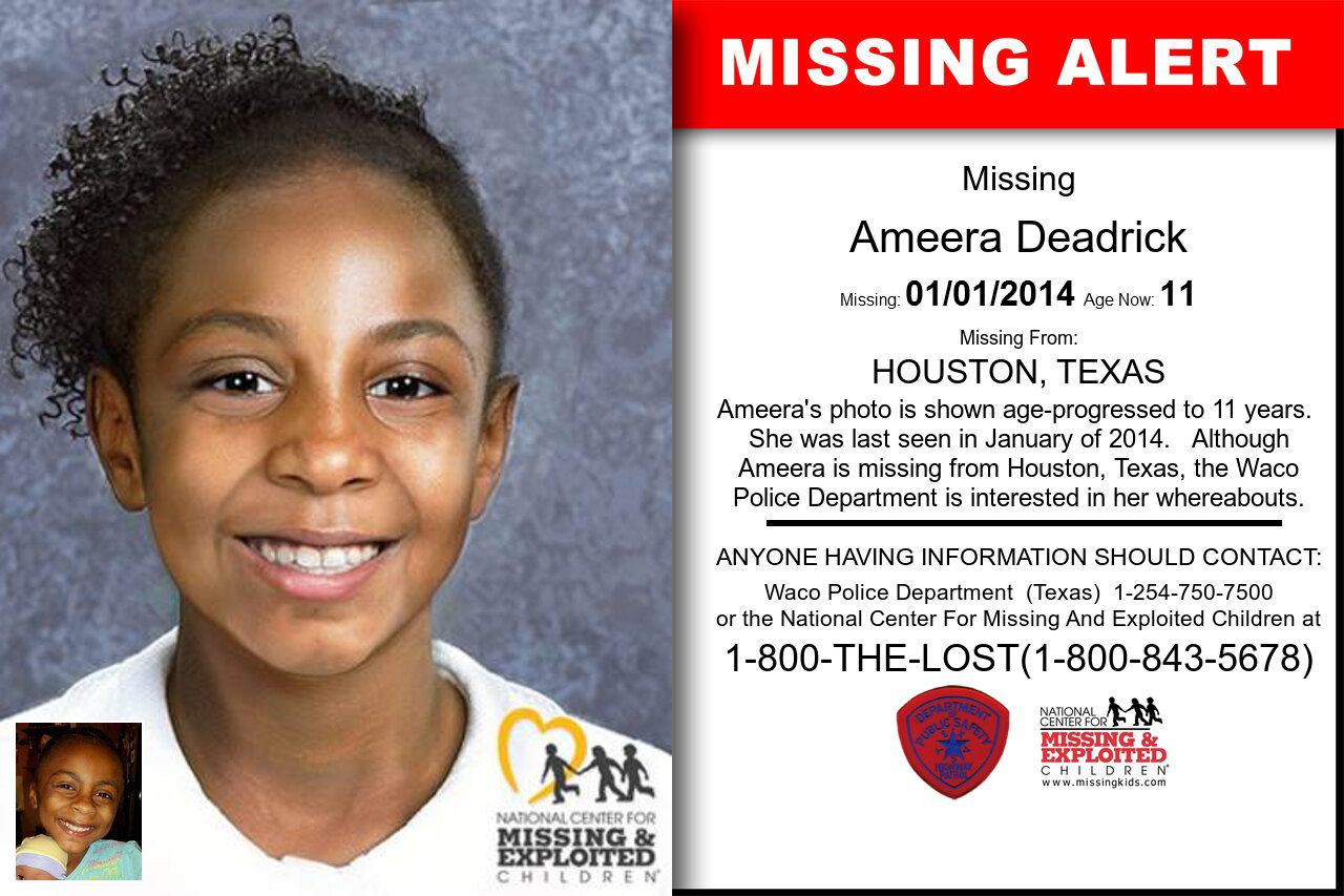 Ameera_Deadrick missing in Texas