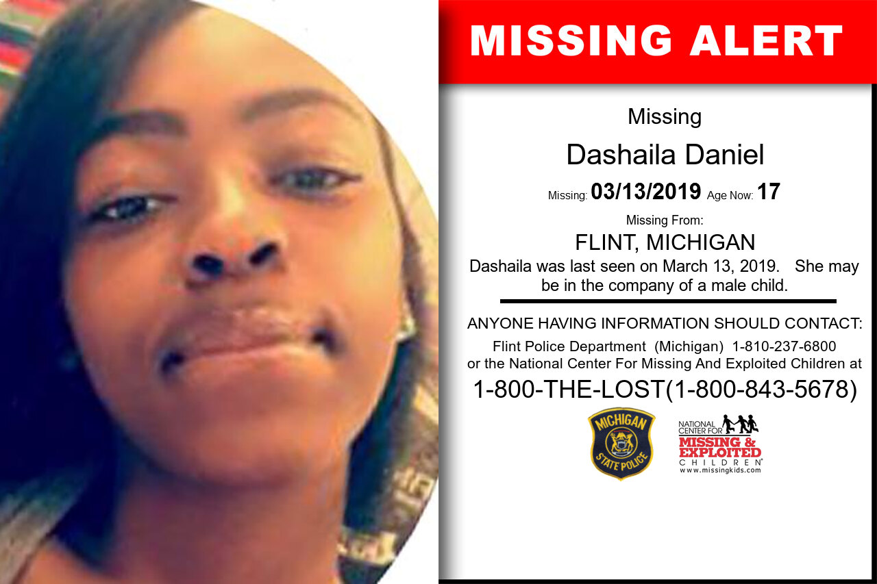Dashaila_Daniel missing in Michigan