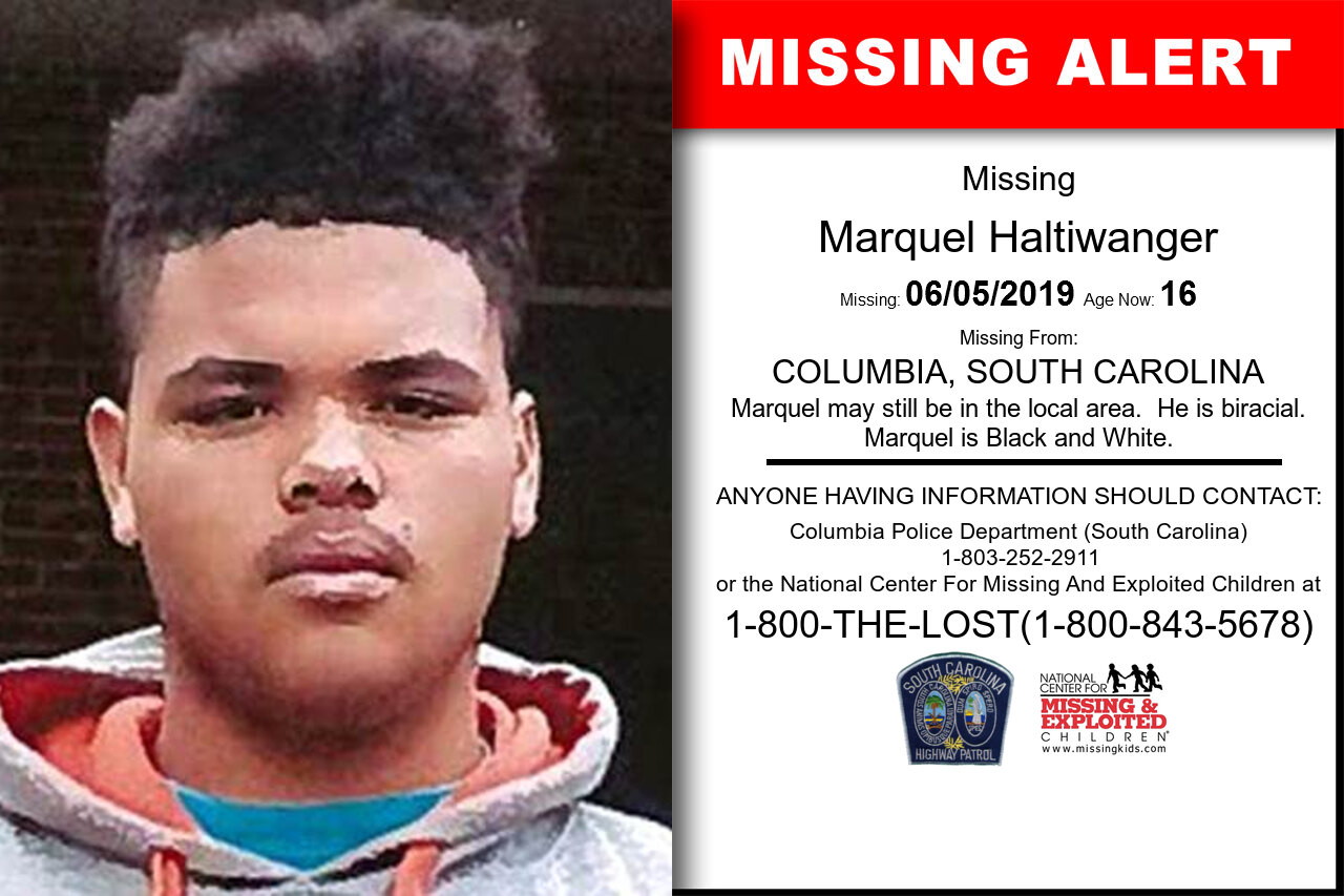 Marquel_Haltiwanger missing in South_Carolina