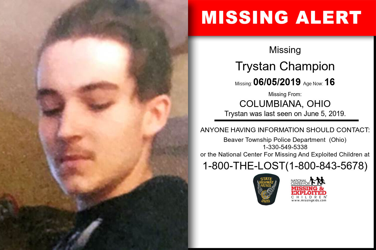 Trystan_Champion missing in Ohio