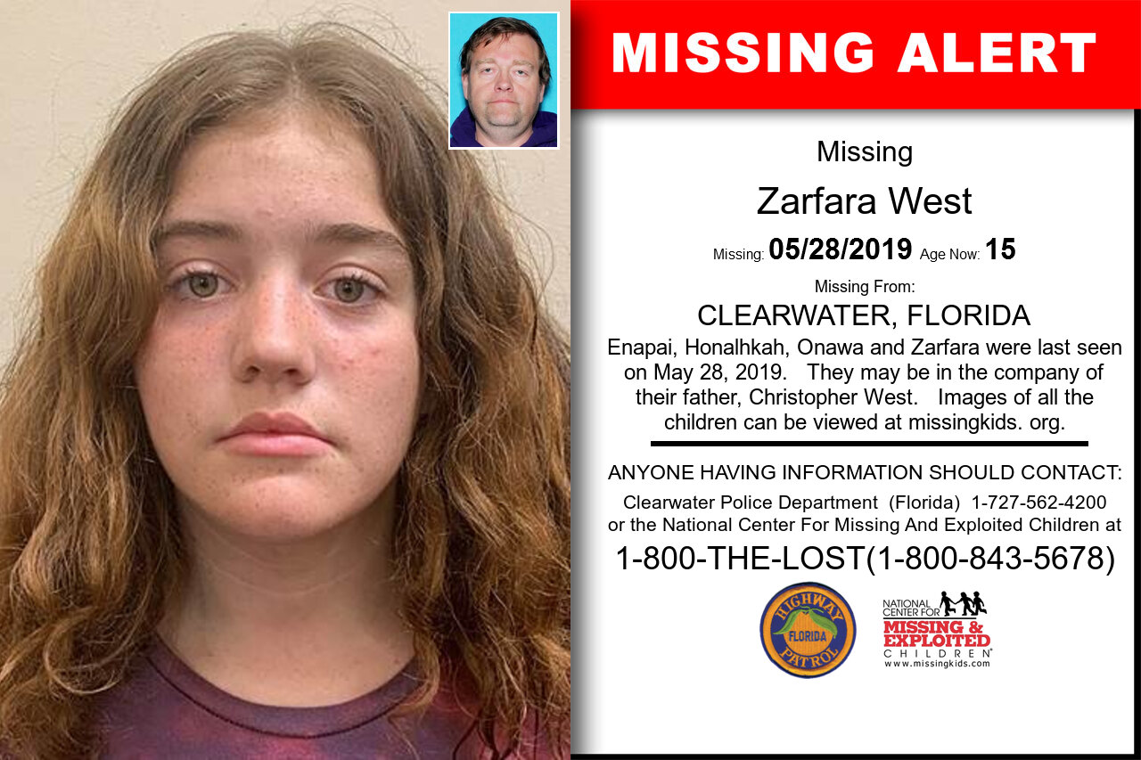 Zarfara_West missing in Florida