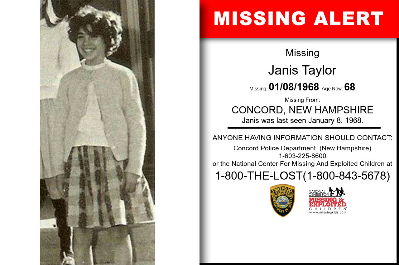Janis_Taylor missing in New_Hampshire
