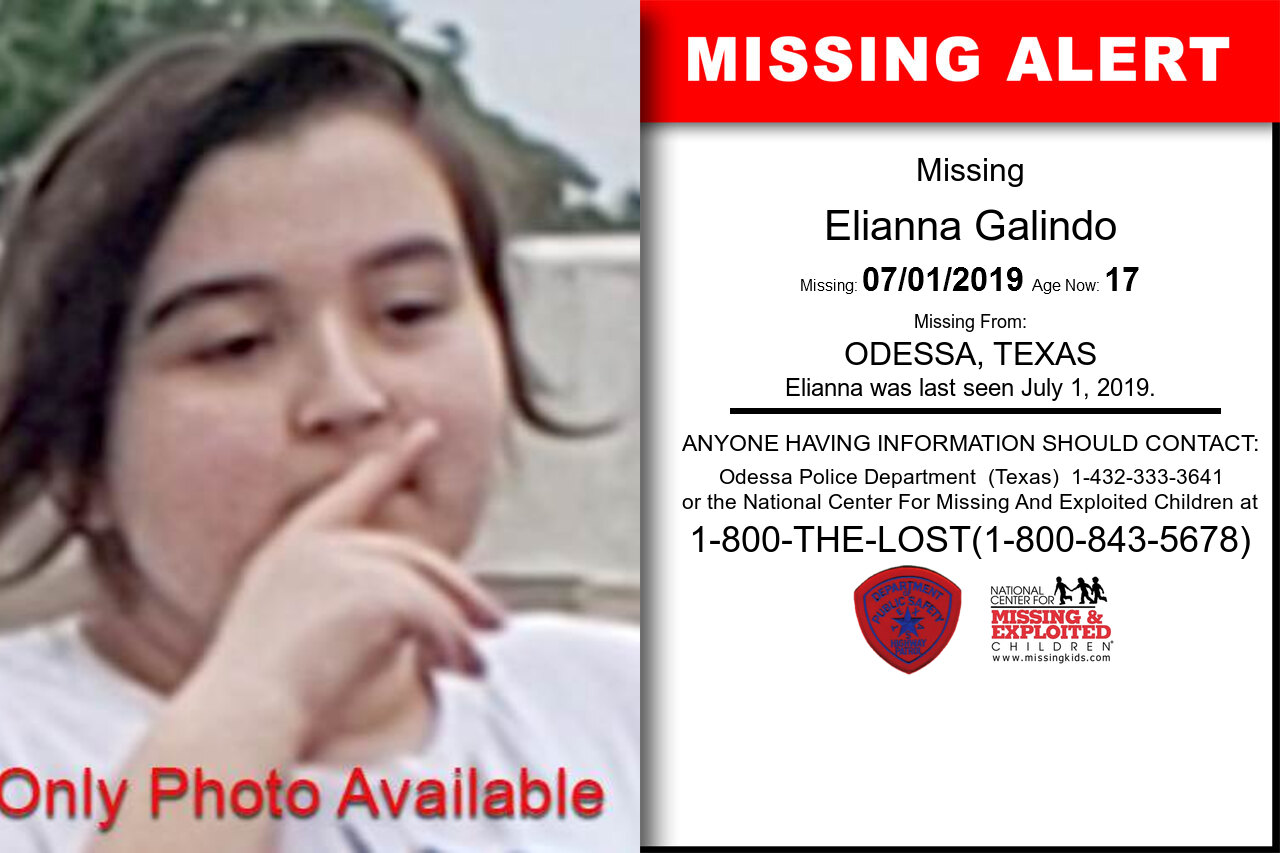 Elianna_Galindo missing in Texas