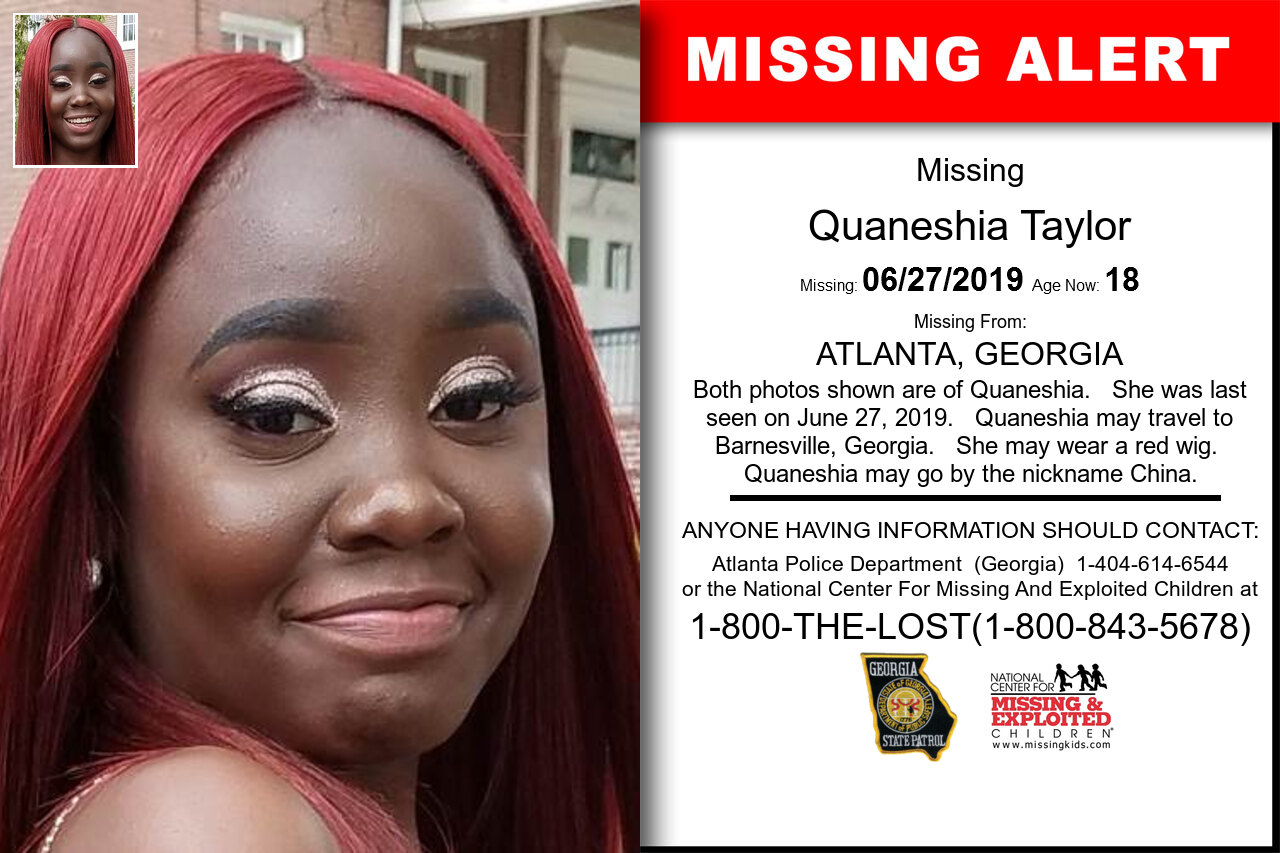 Quaneshia_Taylor missing in Georgia