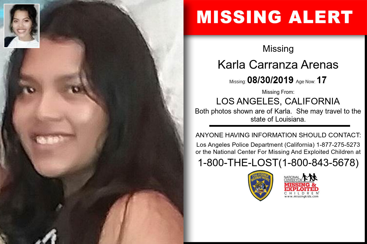 Karla_Carranza_Arenas missing in California