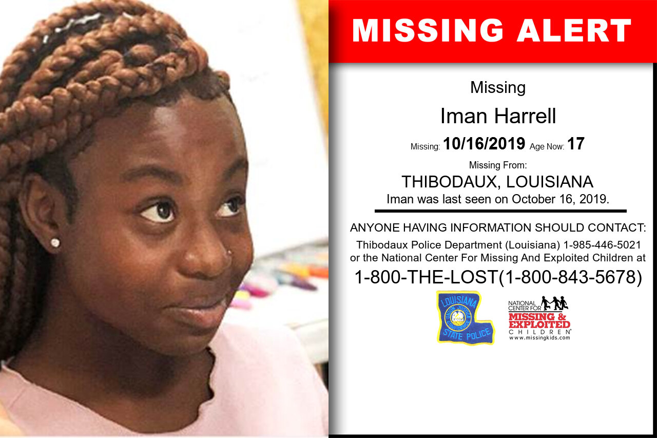 Iman_Harrell missing in Louisiana