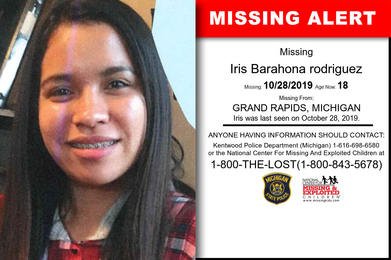 Iris_Barahona_rodriguez missing in Michigan