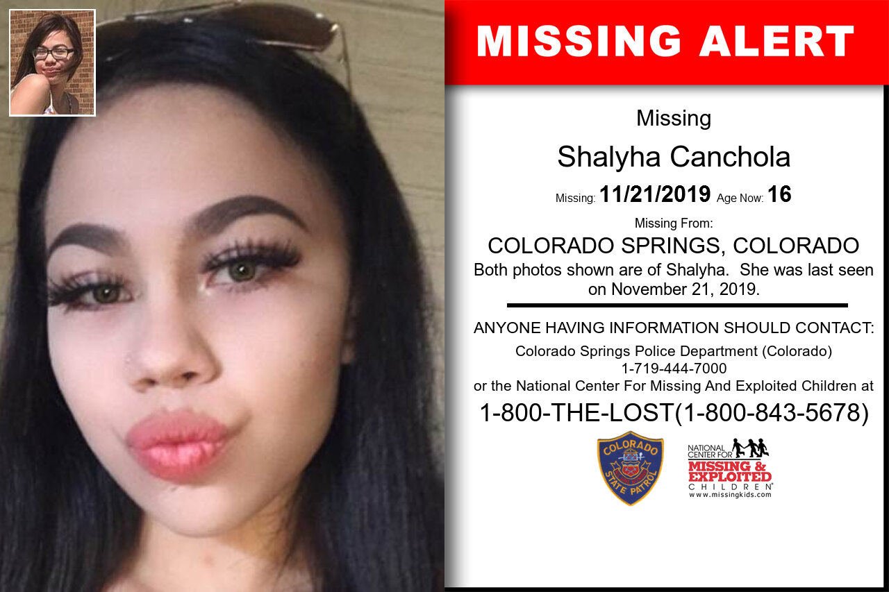 Shalyha_Canchola missing in Colorado