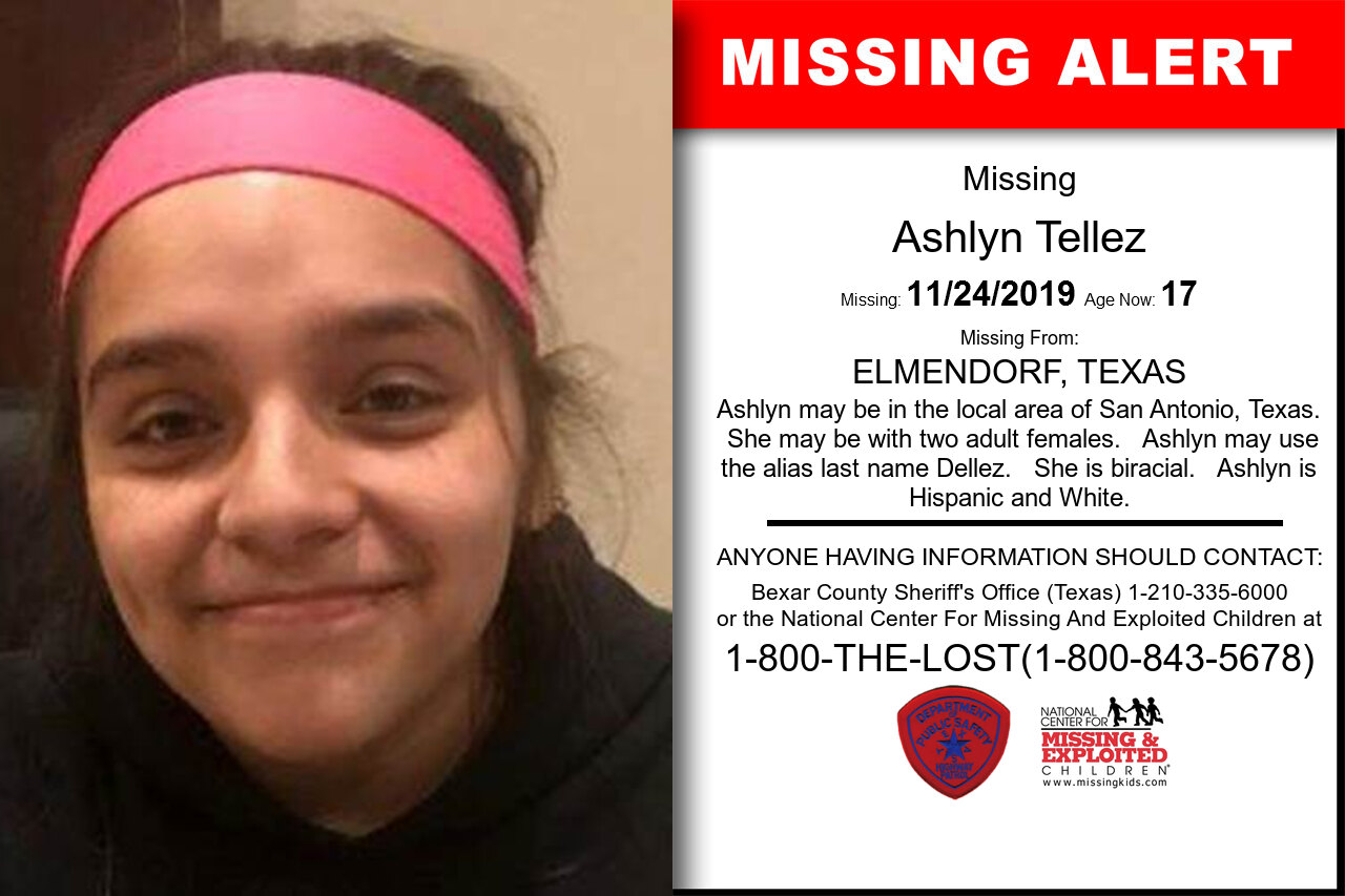 Ashlyn_Tellez missing in Texas