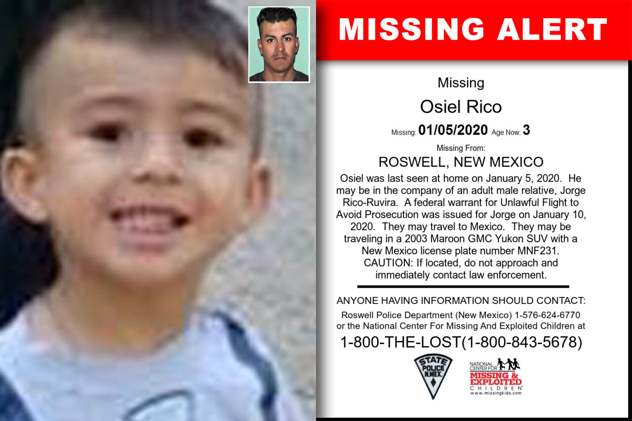 Osiel_Rico missing in New_Mexico