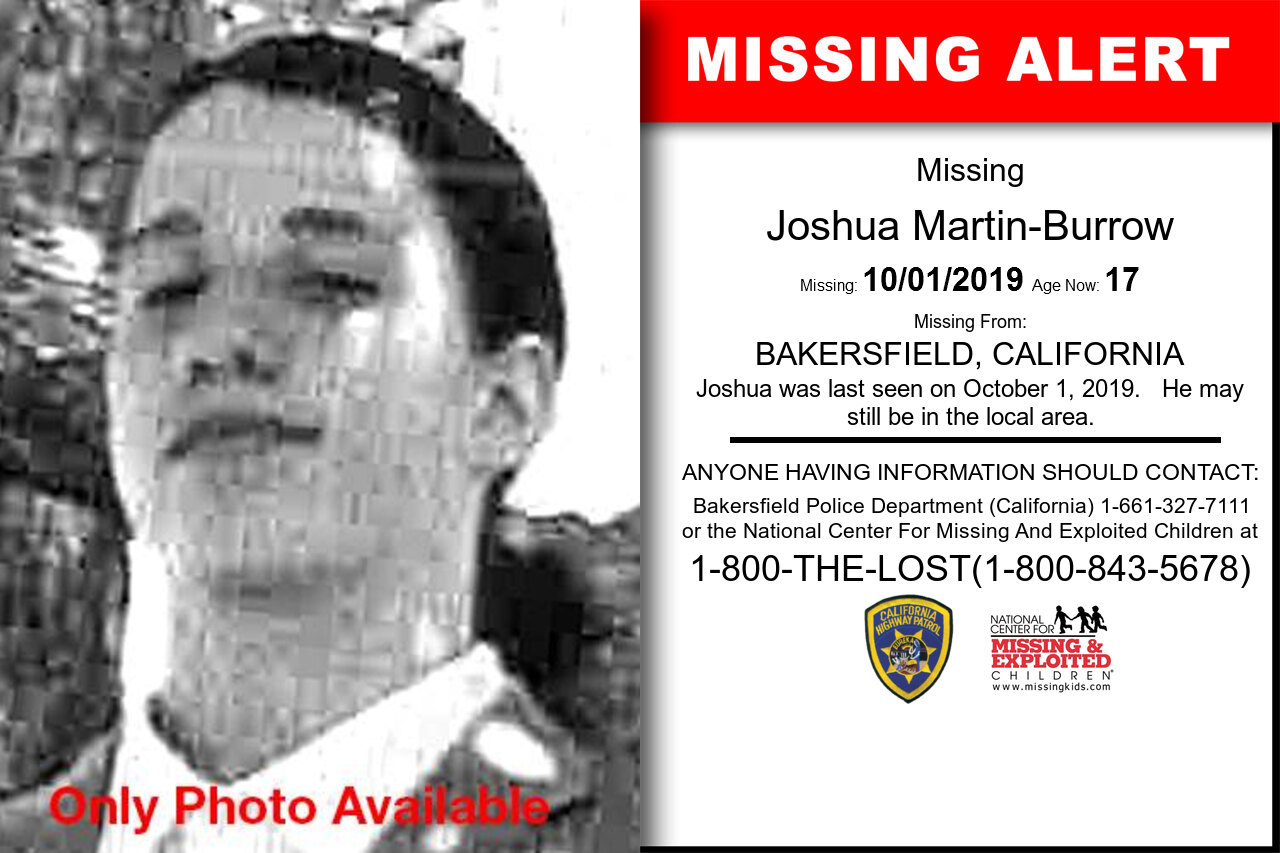 Joshua_Martin-Burrow missing in California