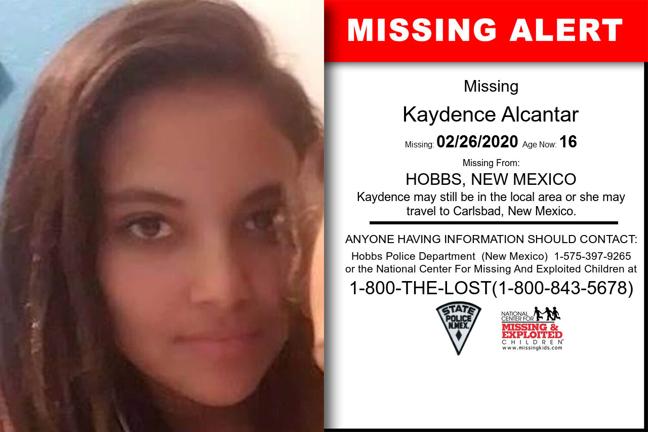 Kaydence_Alcantar missing in New_Mexico