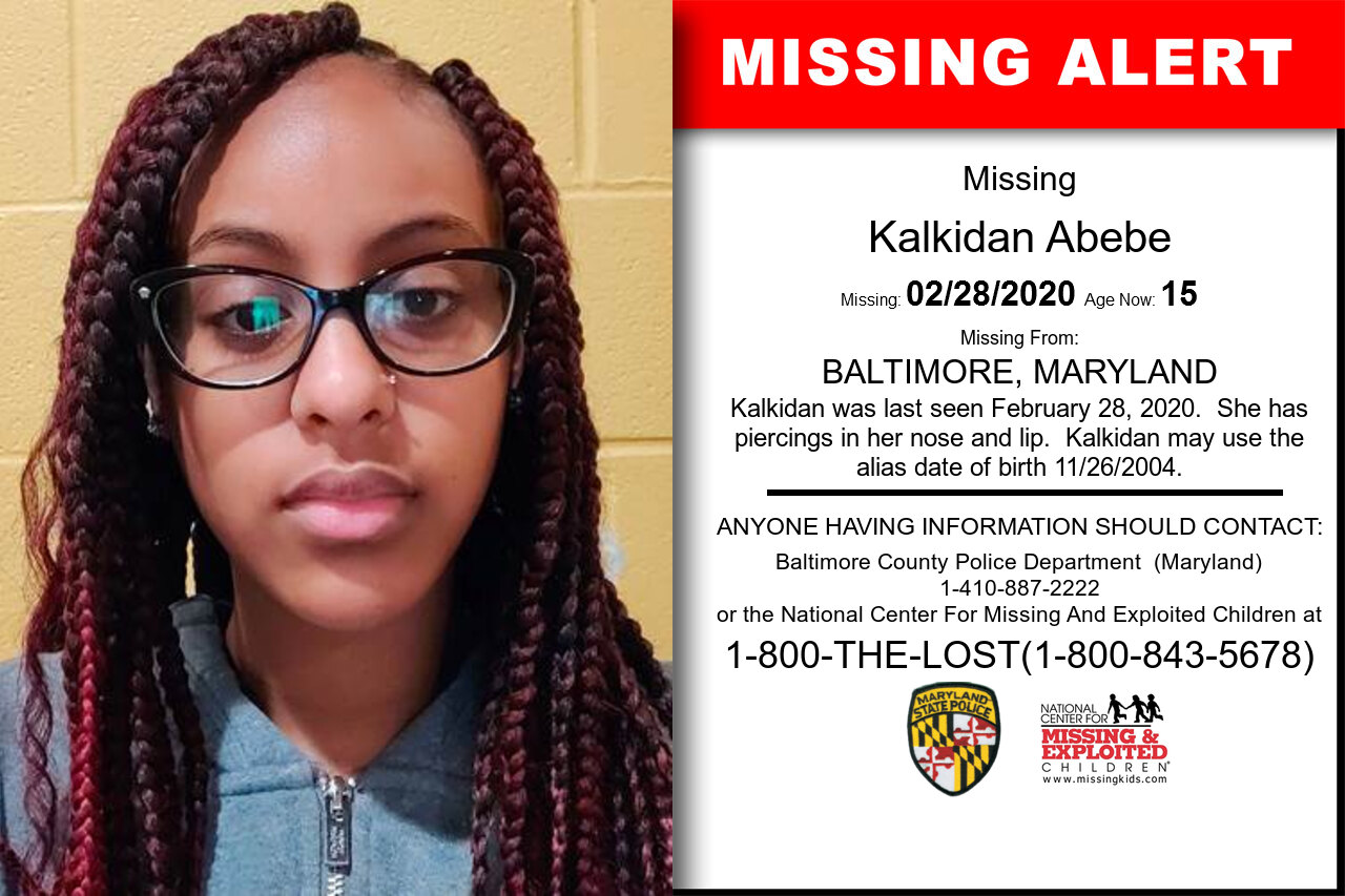 Kalkidan_Abebe missing in Maryland