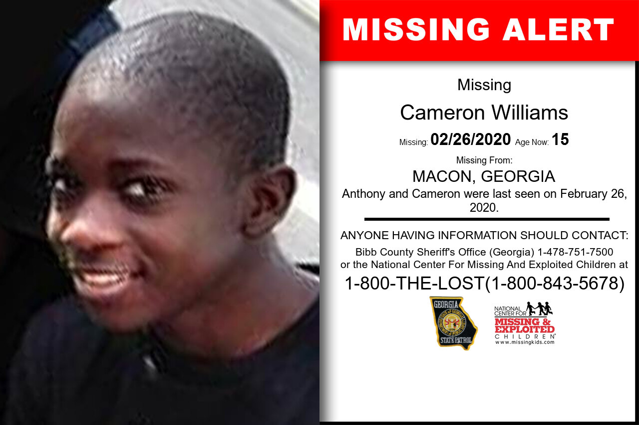 Cameron_Williams missing in Georgia