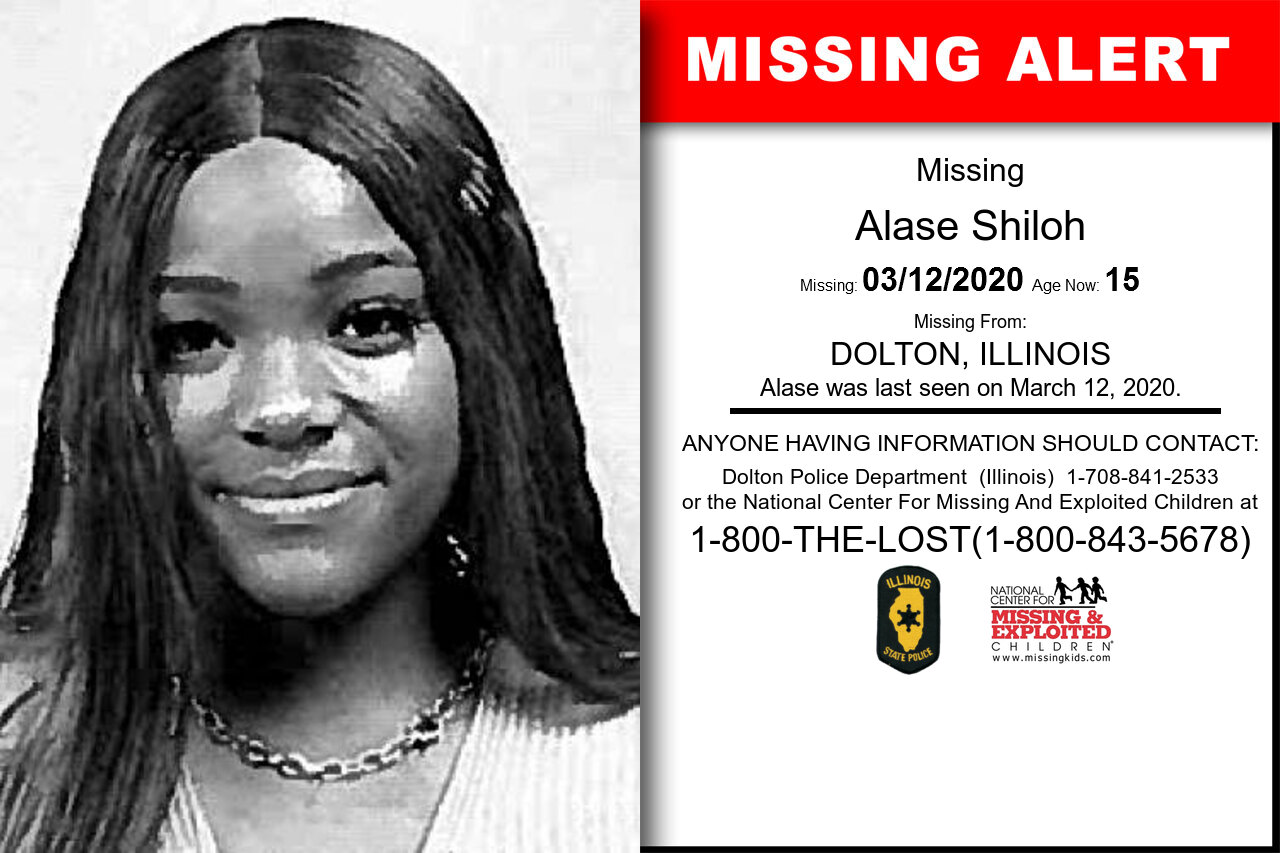 Alase_Shiloh missing in Illinois