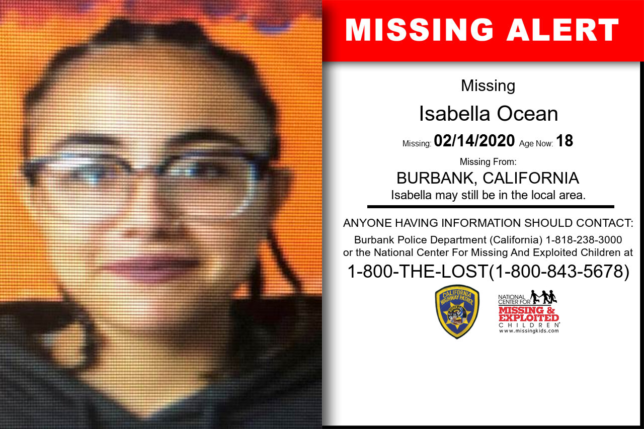 Isabella_Ocean missing in California