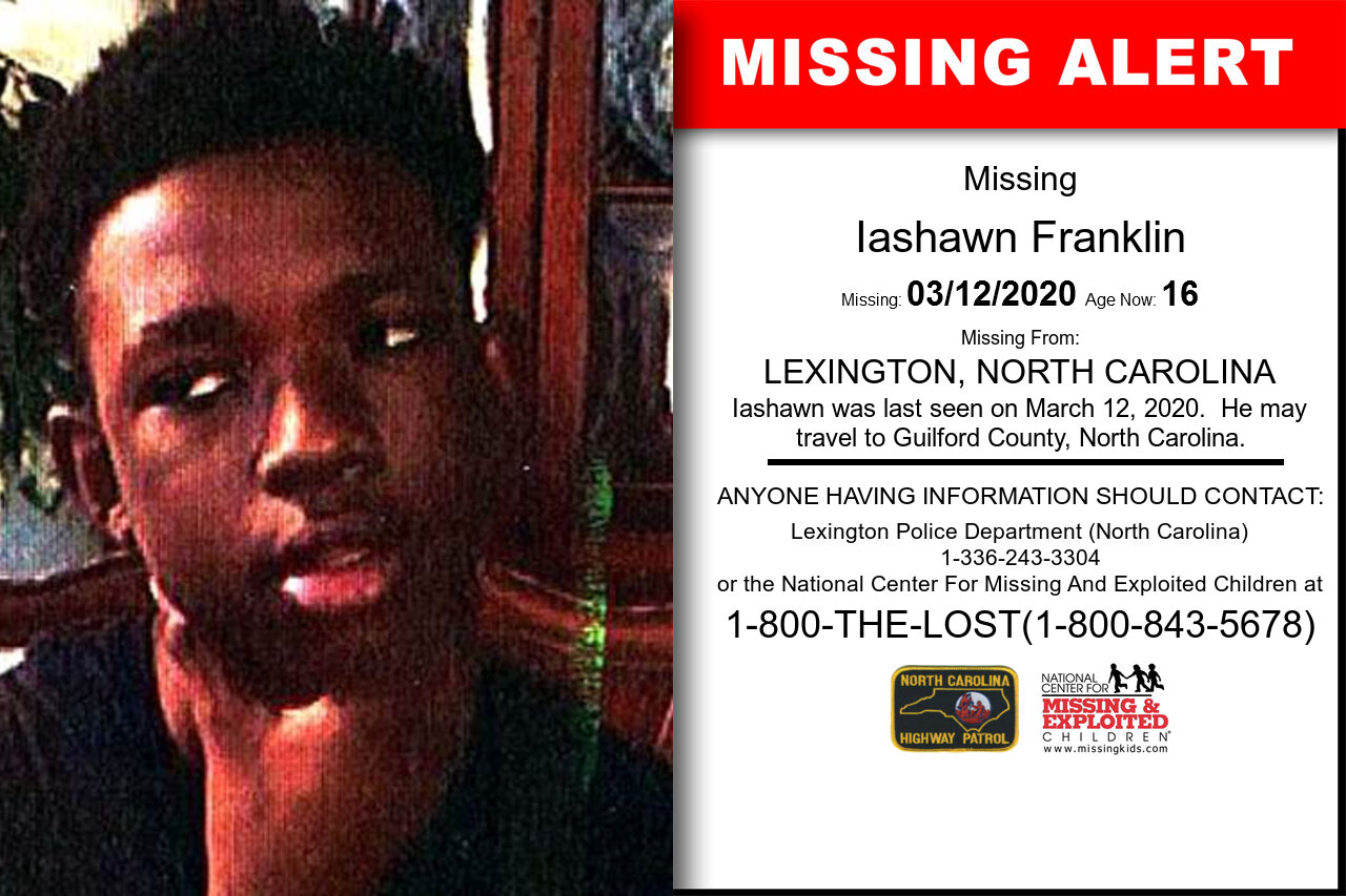Iashawn_Franklin missing in North_Carolina