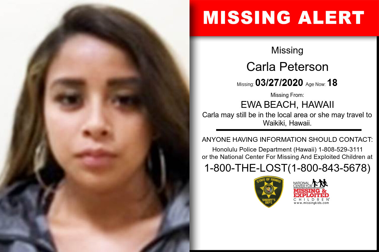 Carla_Peterson missing in Hawaii