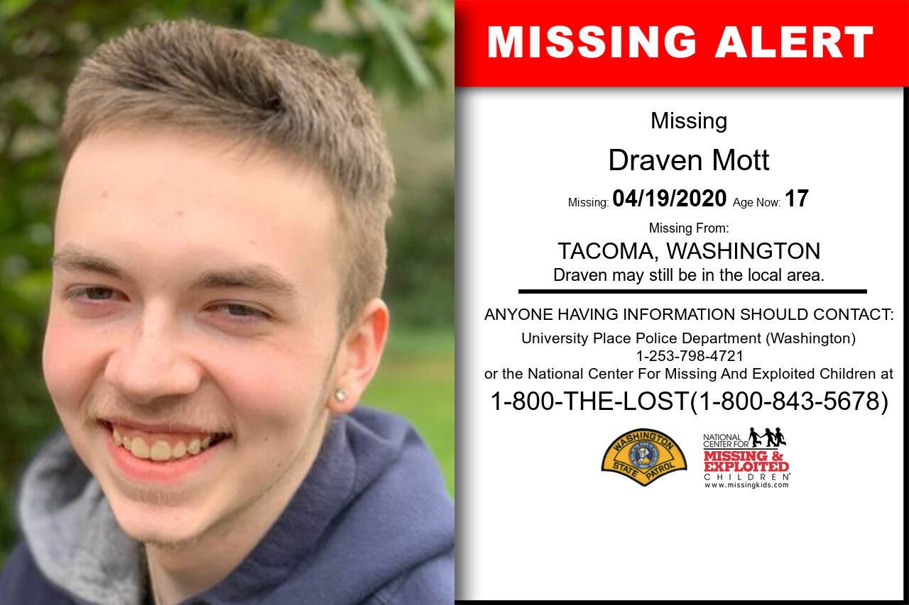 Draven_Mott missing in Washington