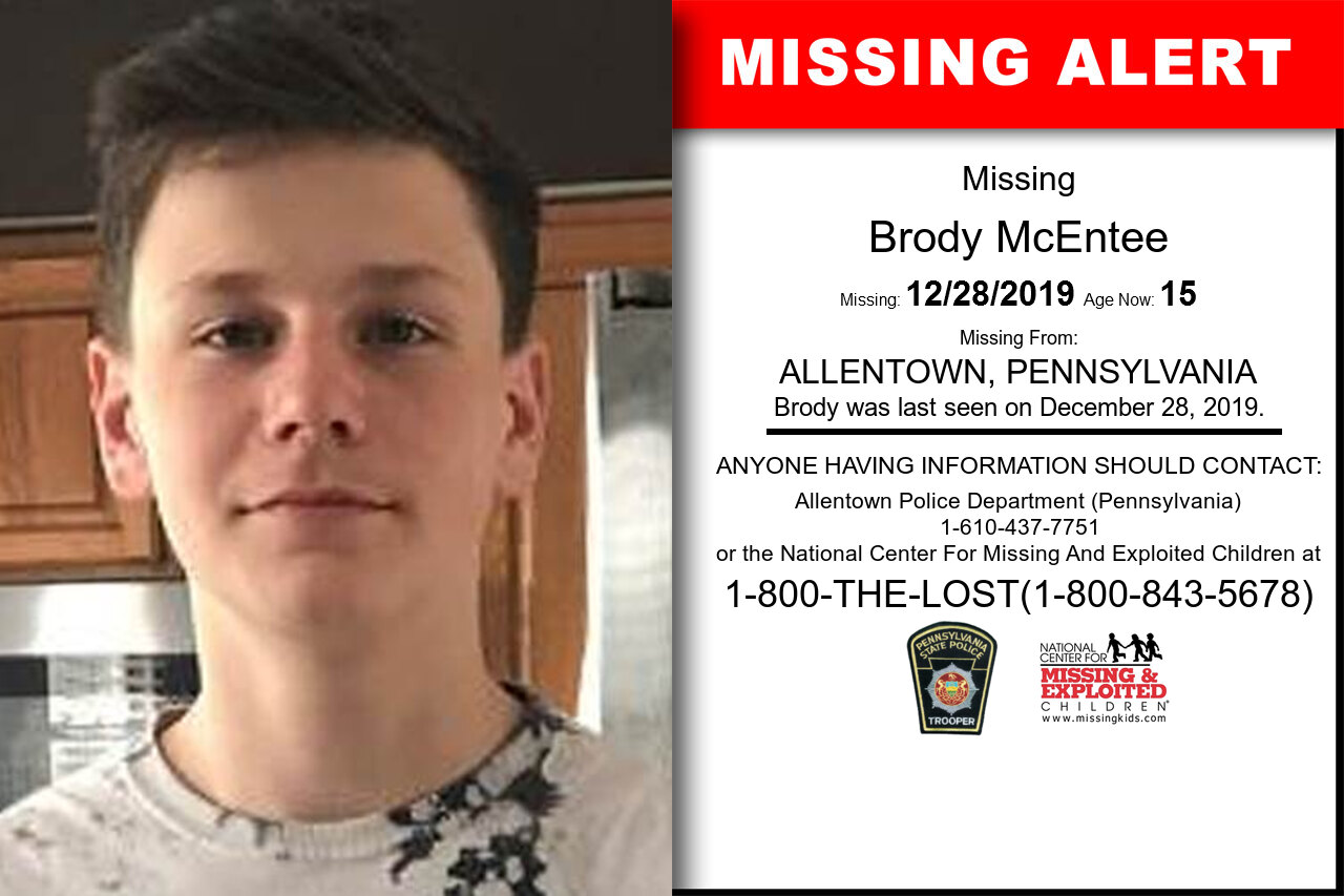 Brody_McEntee missing in Pennsylvania
