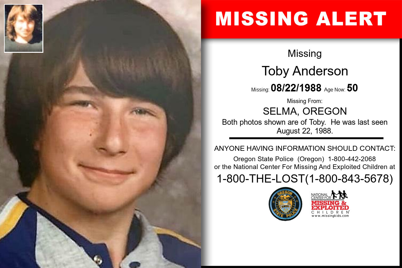 Toby_Anderson missing in Oregon