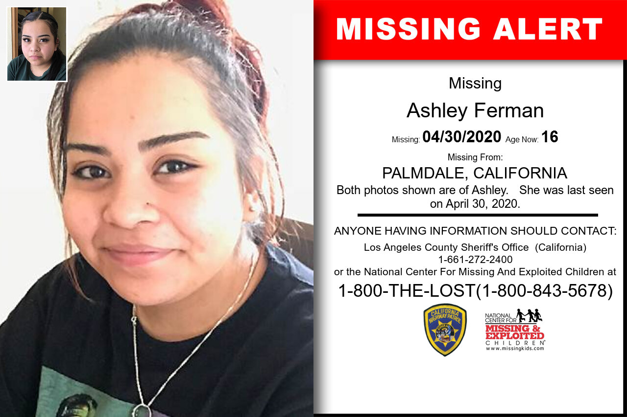 Ashley_Ferman missing in California