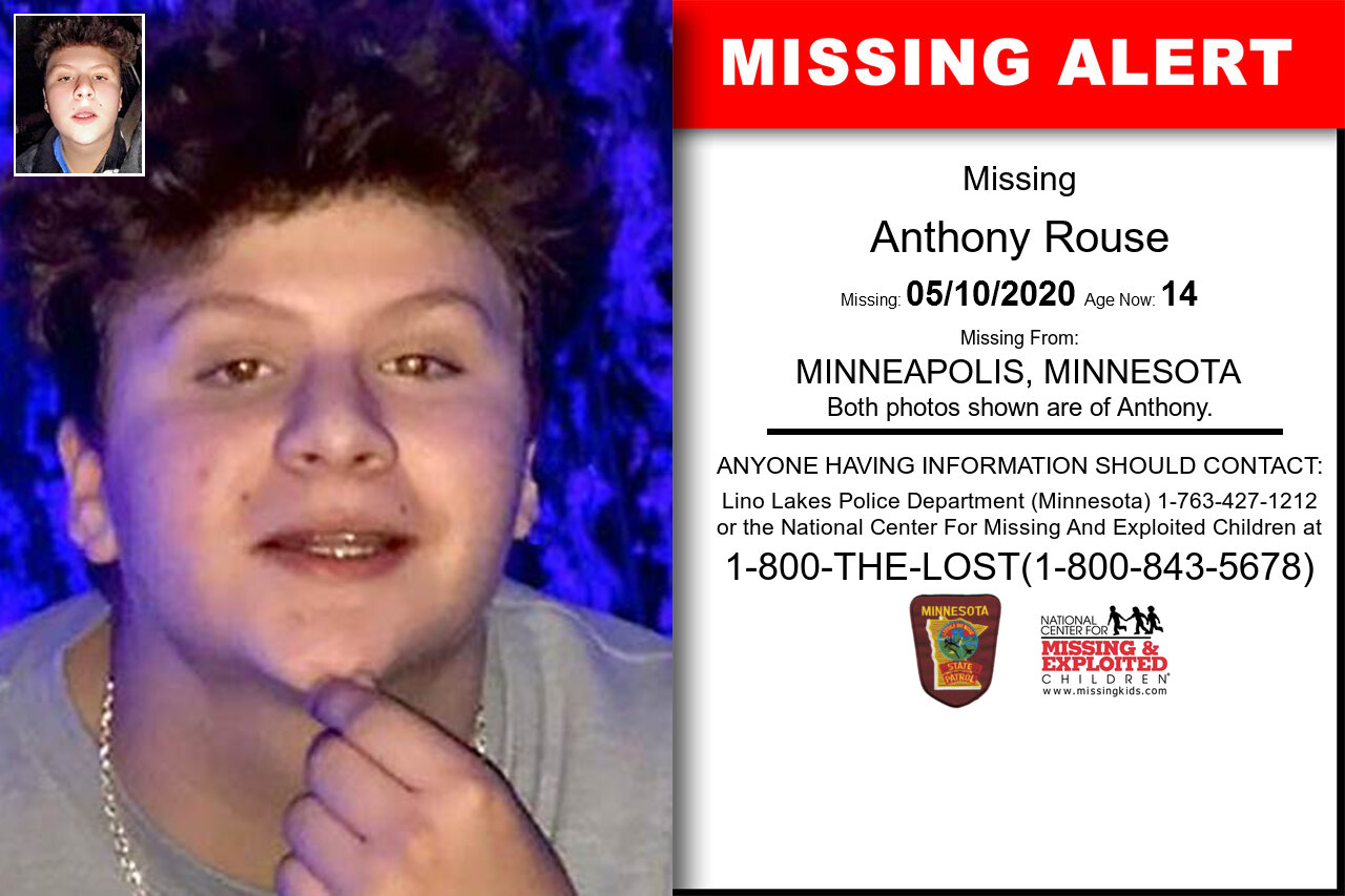 Anthony_Rouse missing in Minnesota