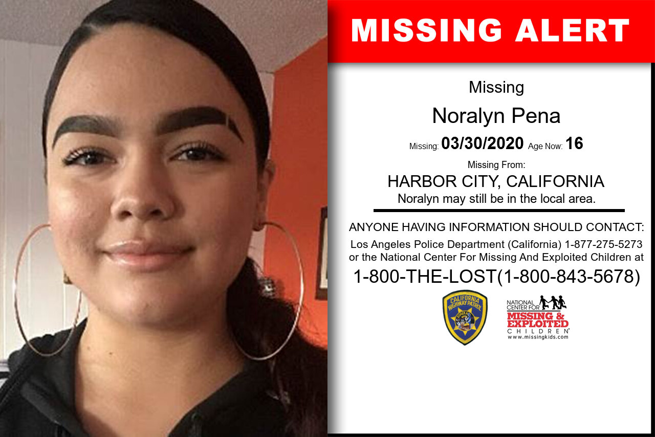 Noralyn_Pena missing in California