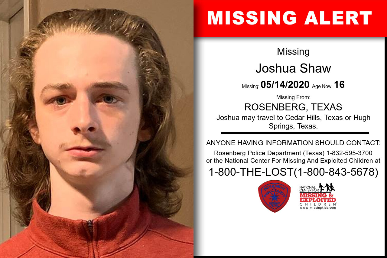 Joshua_Shaw missing in Texas