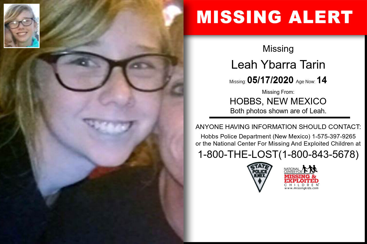 Leah_Ybarra_Tarin missing in New_Mexico