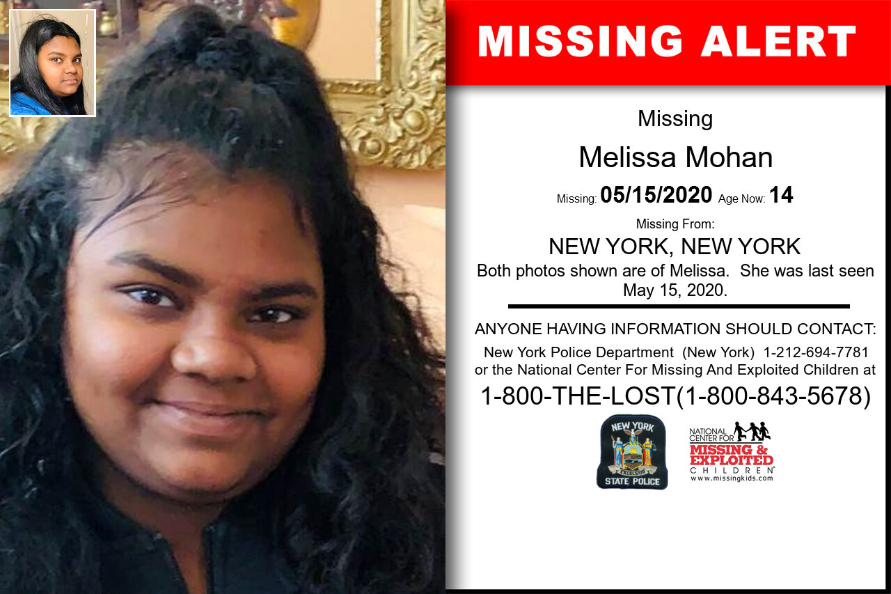 Melissa_Mohan missing in New_York